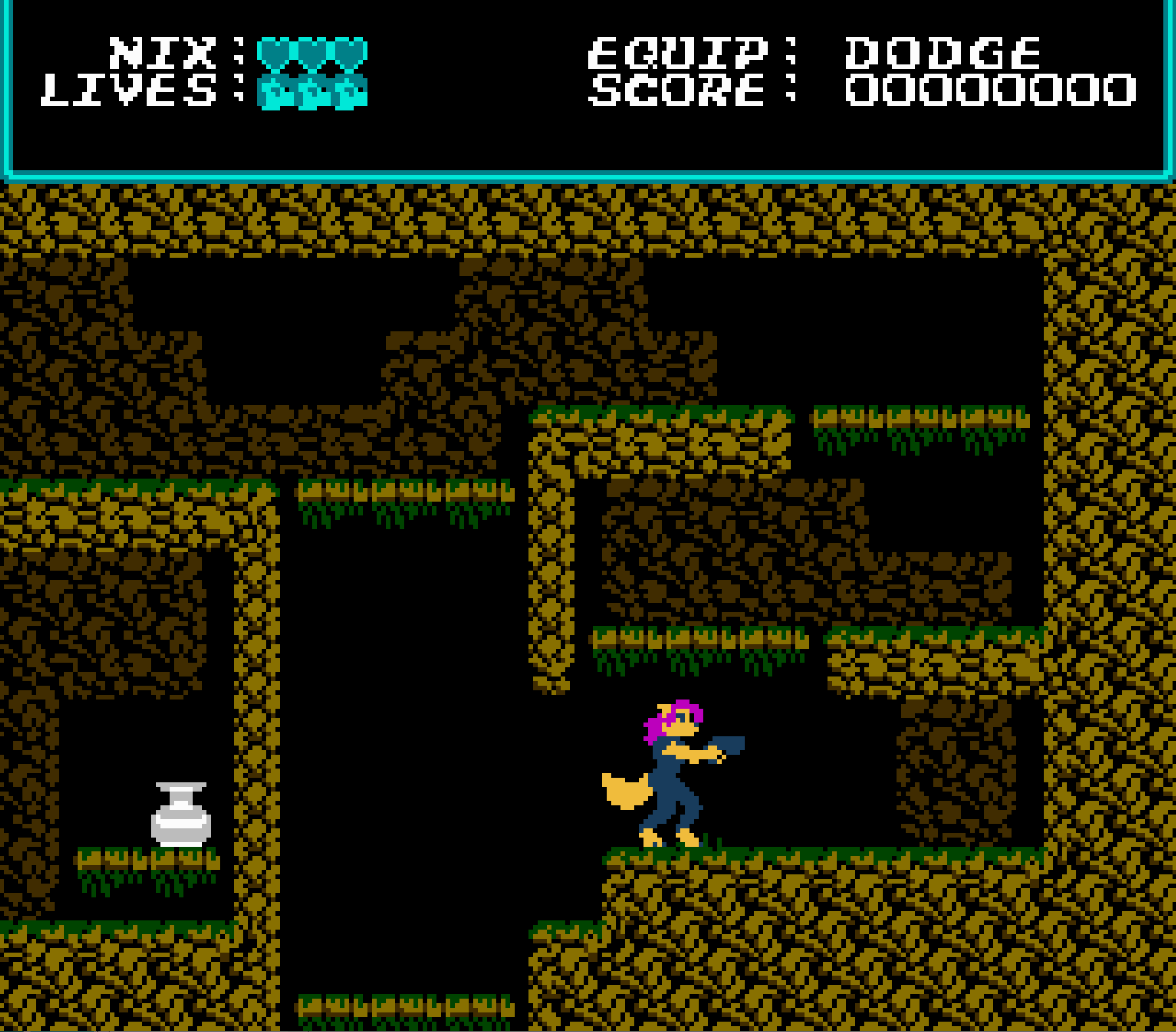 Nix: The Paradox Relic NES game cave screenshot